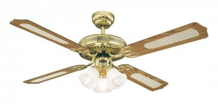 Westinghouse Deckenventilator Monarch trio 132 cm, Messing poliert
