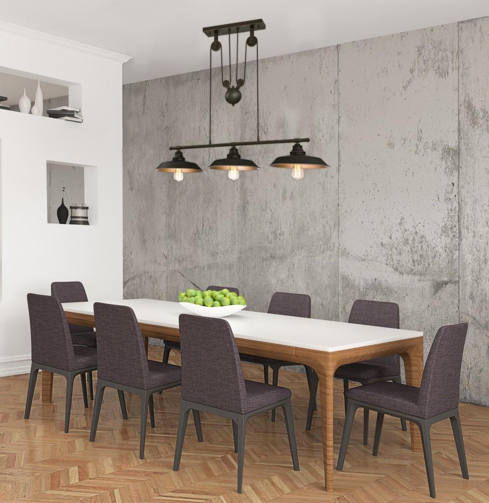 pendelleuchte 3 flammig ohne leuchtmittel max 60w e27 bronze ge lt 63325. Black Bedroom Furniture Sets. Home Design Ideas
