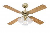 Westinghouse Deckenventilator Princess Trio 105 cm, Messing antik